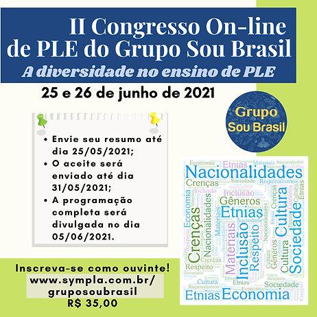 Banner II Congresso online de PLE Grupo