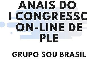 Capa Anais I Congresso Online PLE junho
