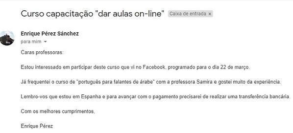 Comentario ref a capacitacao Portugues p
