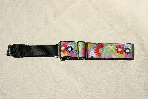 Flower Print Greyhound Collar