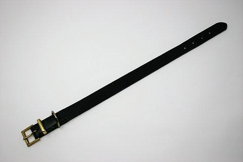 Black Leather Collar
