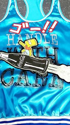 ゴー!!Go!!This electric blue shiny vest lo