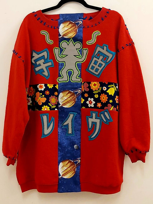 Space Rave=宇宙レイヴ Oversized Sweatshirt