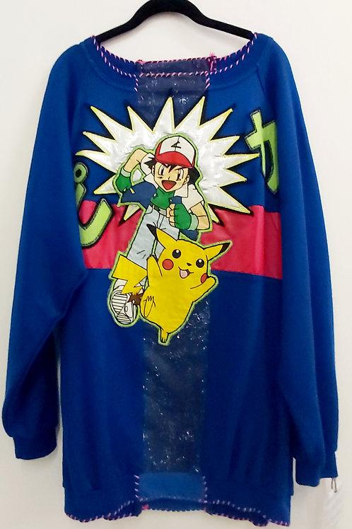 Pikaピカ Oversized Long Sweatshirt