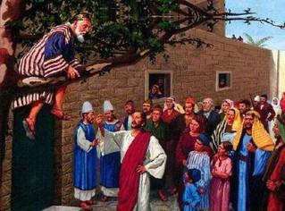 ¿Sabes que Jesús puede tumbarte del sicomoro?, pero aun te da la oportunidad que tú te bajes.