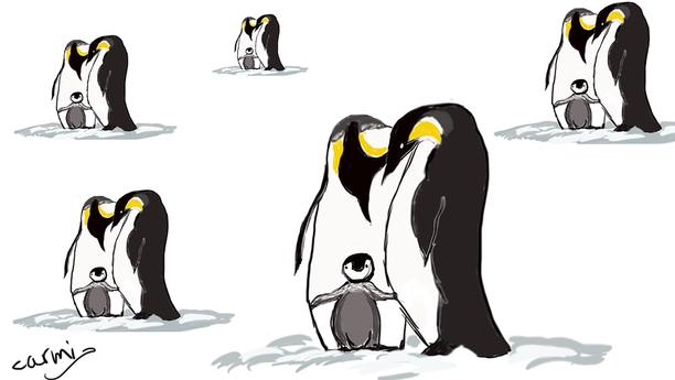 ציור משפחת פינגווינים.png