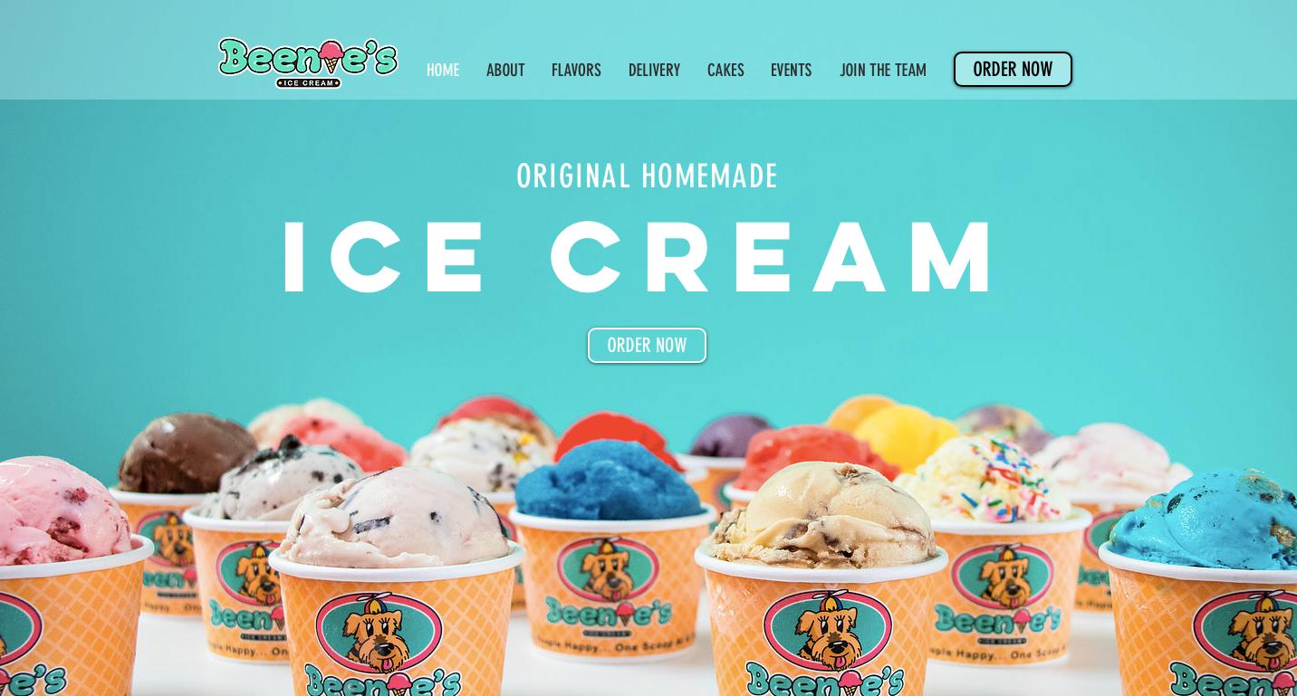 Beenie's Ice Cream   Home