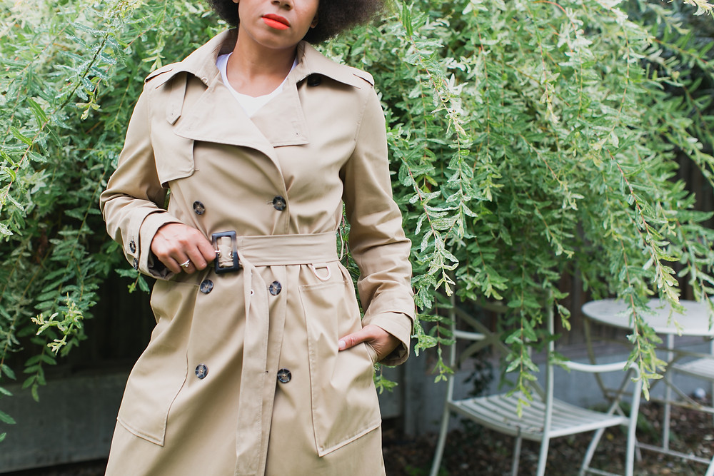 M&S trench coat modelled by Style Me Sunday