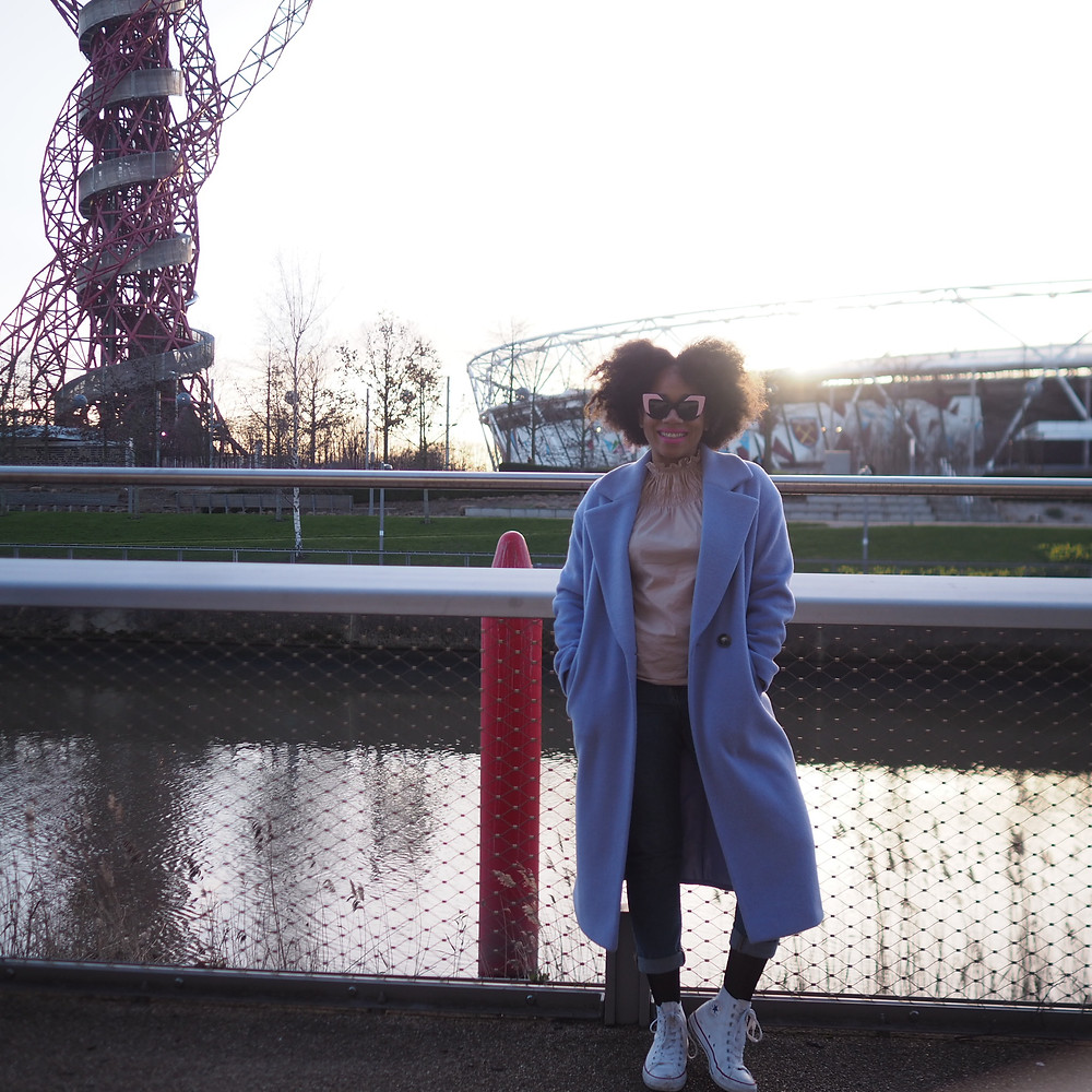 Lilac wool coat by Marks and Spencer worn by Natalie of Style Me Sunday