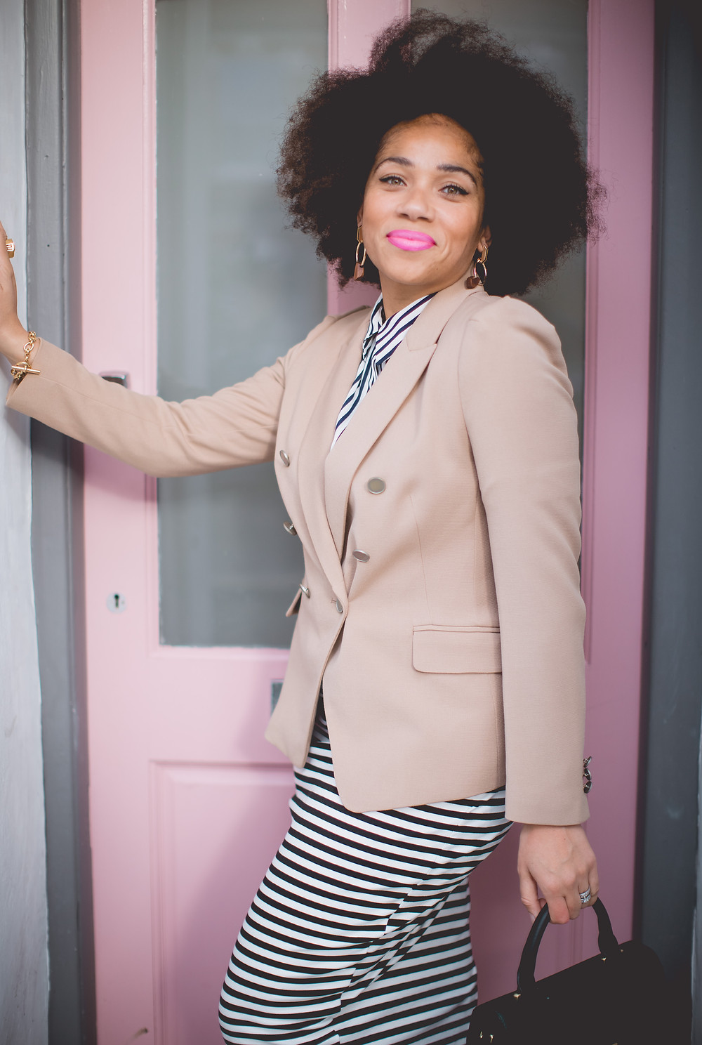 Nat from Style Me Sunday wearing M&S workwear outfit