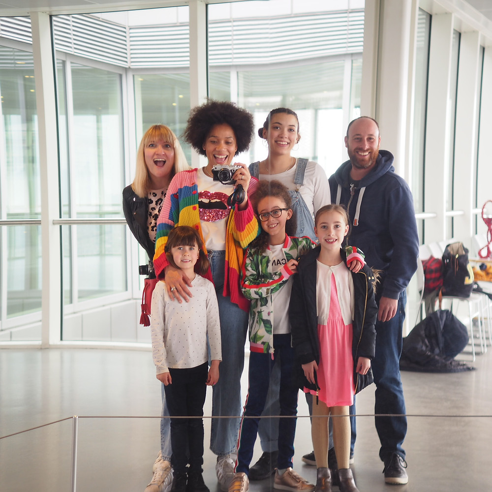 A mirror of Style Me Sunday family and Alison Perry' family at The ArcelorMittal Orbit
