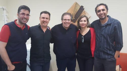Enéias Xavier, Glauco, João Alexandre, Ana Ester e Di Stéffano.