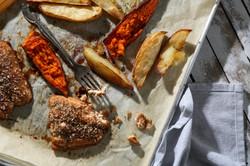 Fish 'N' Chips Sheet Pan Dinner