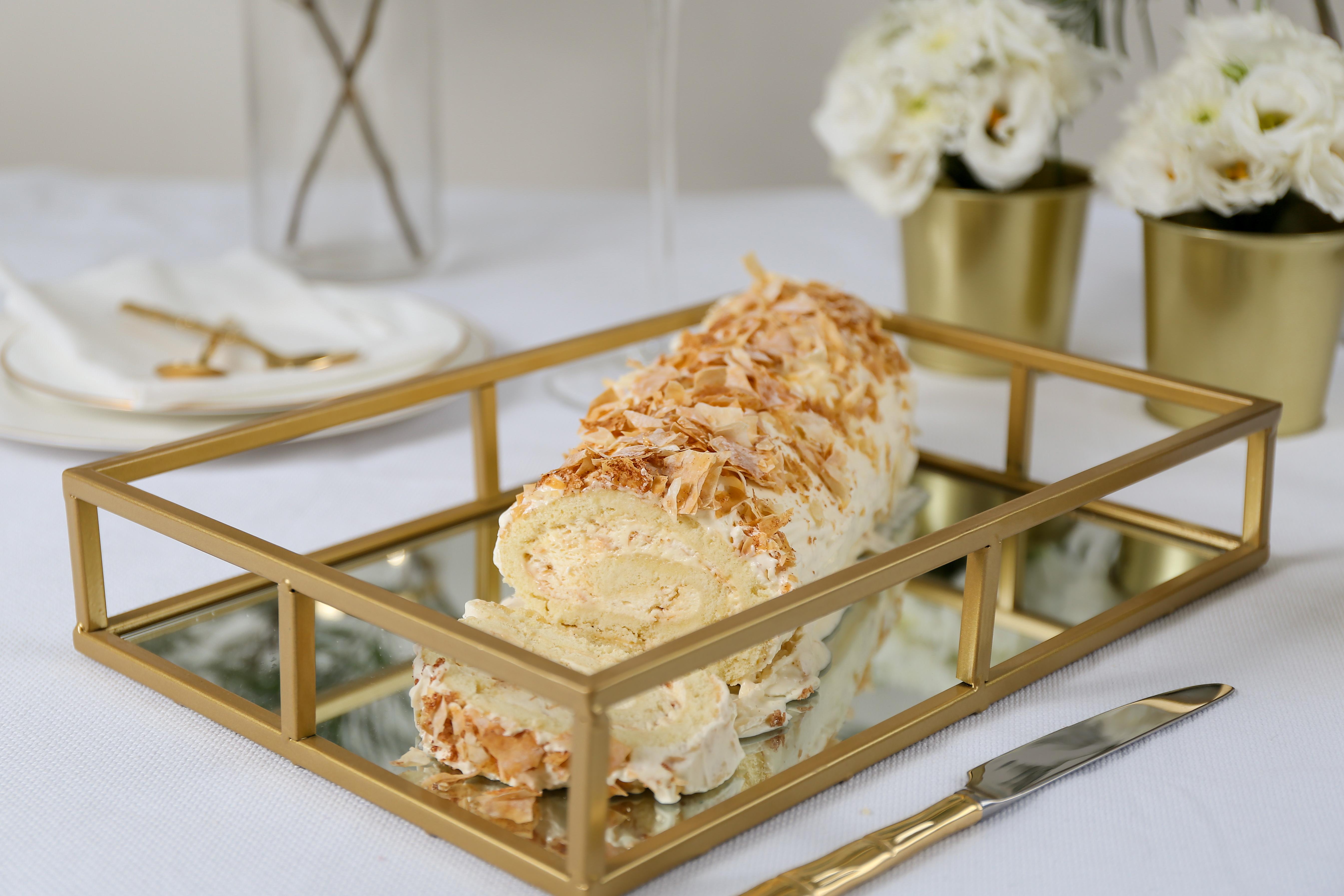 Napoleon Style Ice cream Roll