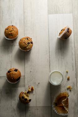 Healthy Yogurt Blueberry Muffins