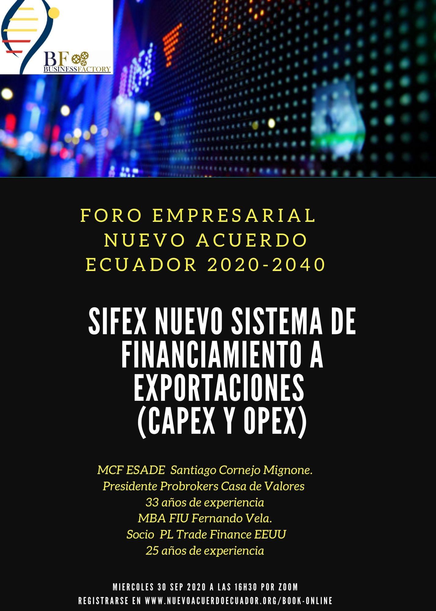 SIFEX FINANCIAMIENTO EXPORTACIONES