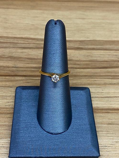 .27 ct round diamond engagement ring