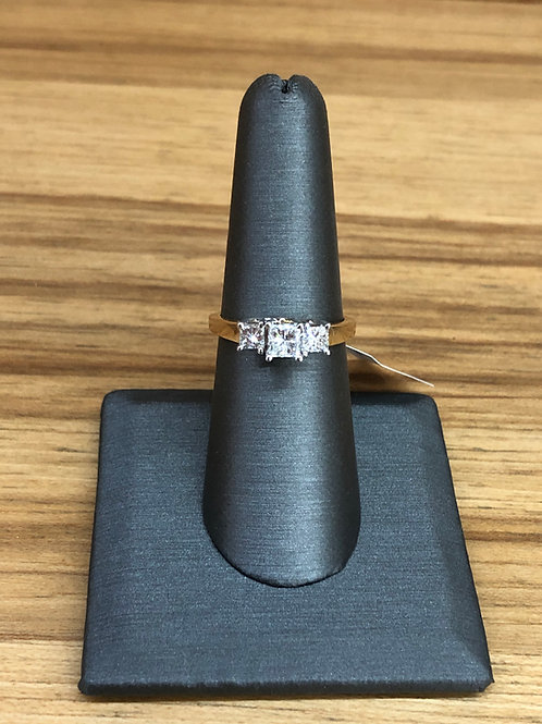 1.00 ctw 3 stone diamond ring