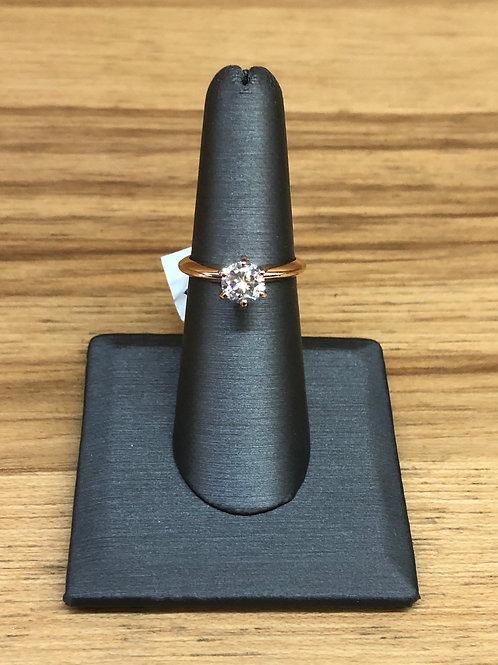 .97 ct round diamond engagement ring