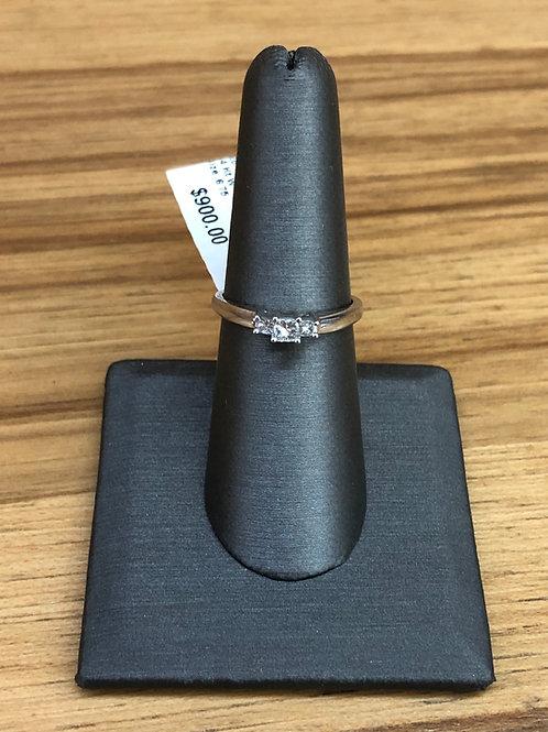 .25 ctw 3 stone diamond ring