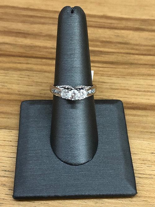1.00 ctw 3 stone ring