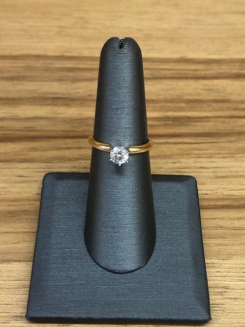 .53 ct round diamond engagement ring