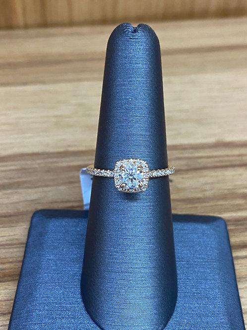 .52 ctw round diamond engagement ring