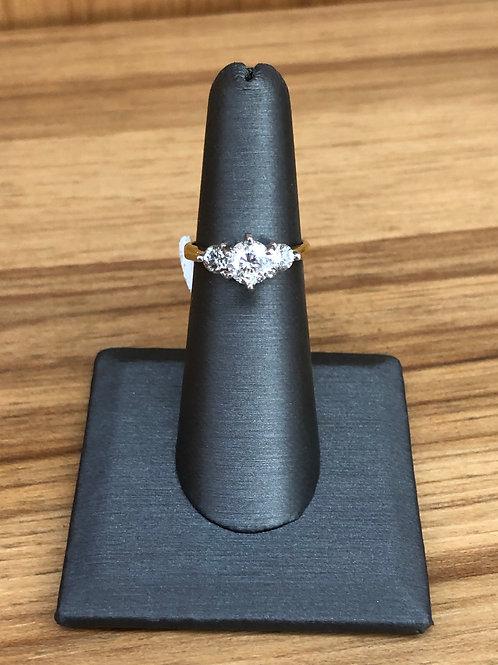 1.75 ctw 3 stone diamond ring