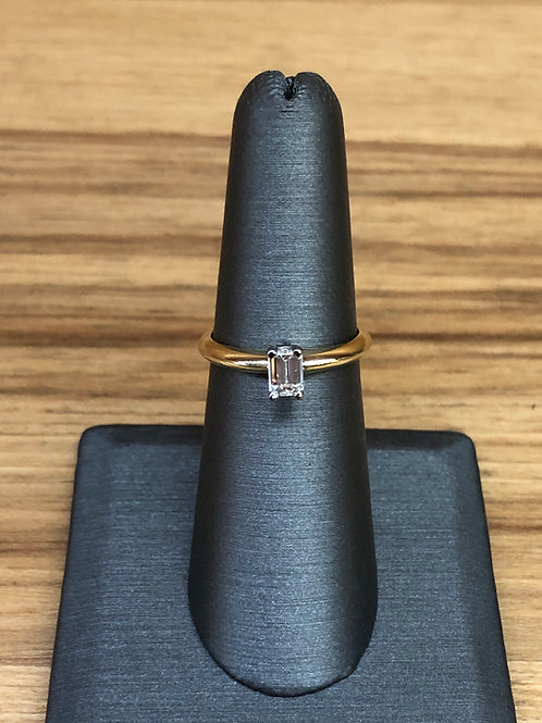.35 ct emerald diamond engagement ring
