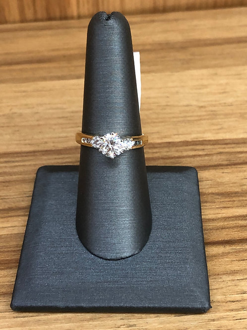 1.40 ctw round 7 stone ring
