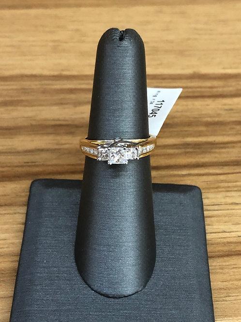 1.00 ctw 3 stone diamond ring