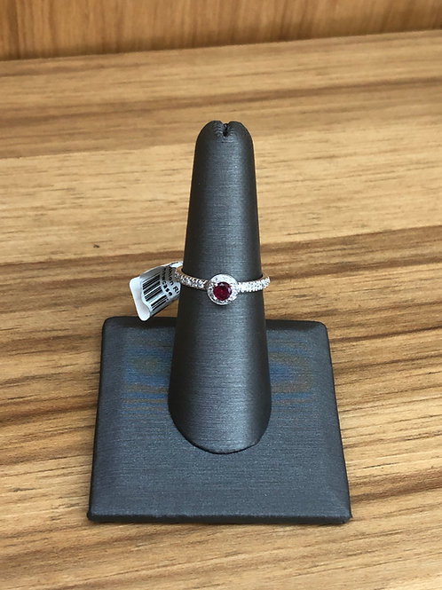 .35 ctw ruby and diamond ring