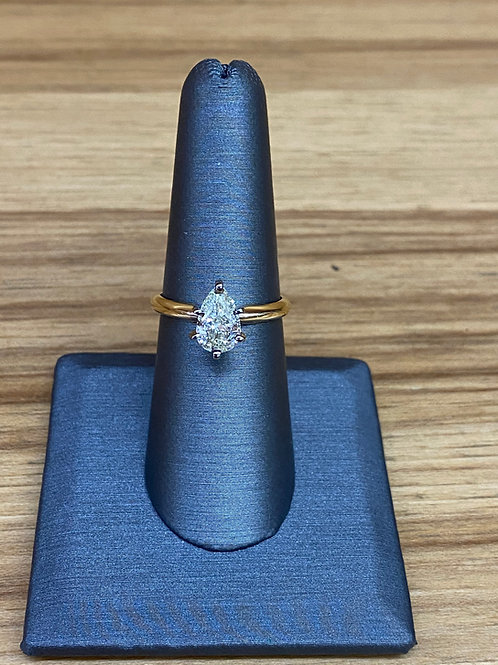1.02 ct pear engagement ring