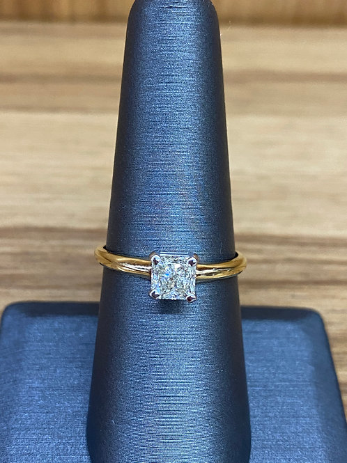 1.01 ct princess cut engagement ring