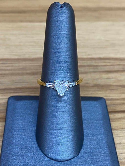 .96 ctw heart diamond engagement ring