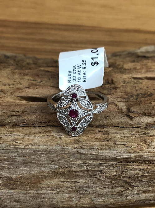 .33 ctw Ruby and diamond ring