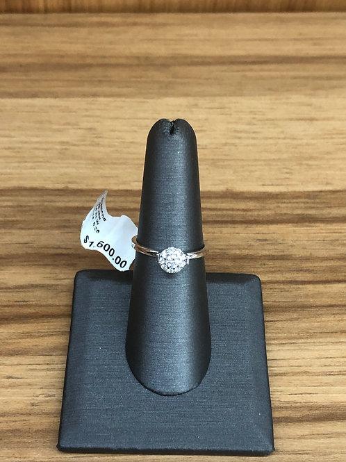 .28 ctw diamond engagement ring