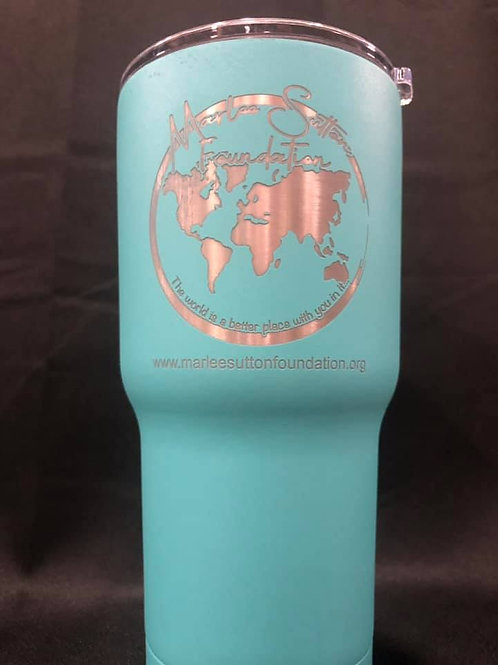 20 oz turquoise stainless steel tumbler