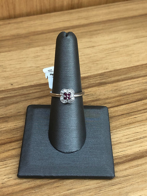 .20 ctw ruby and diamond ring