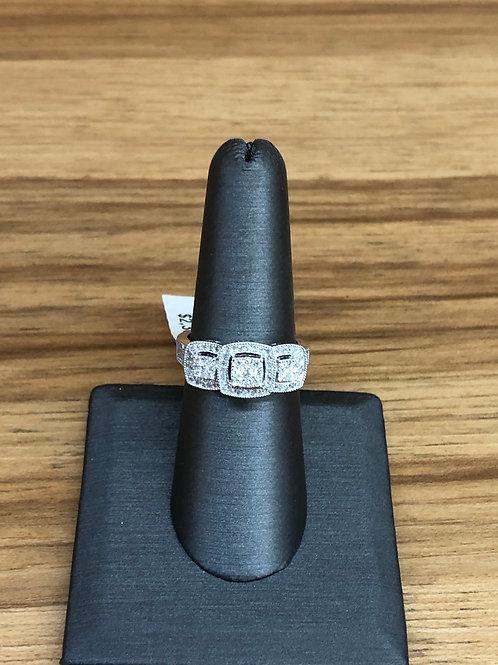 .50 ctw 3 stone look diamond ring