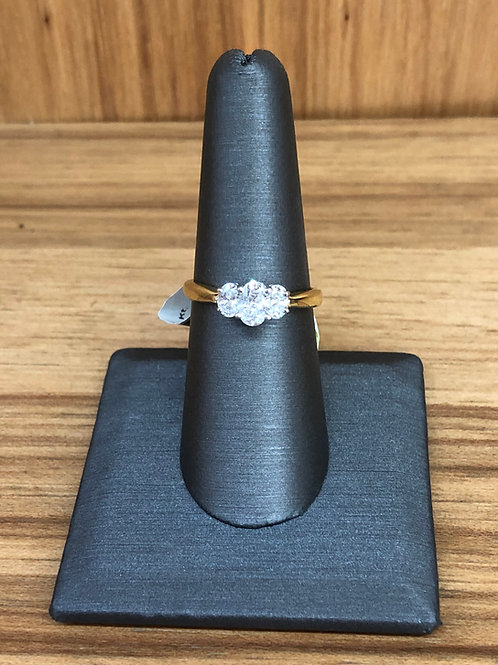 1.00 ctw oval 3 stone ring