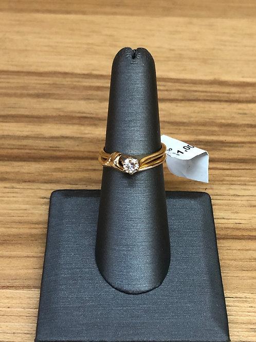 .24 ct round diamond engagement ring