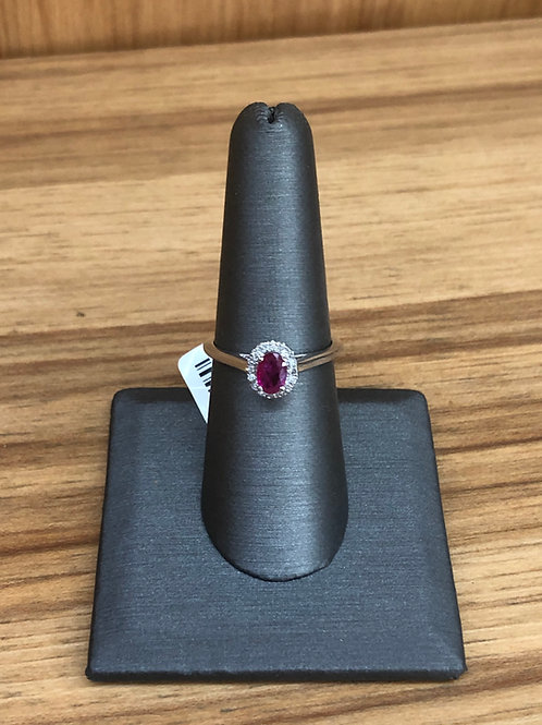 .08 ctw ruby and diamond ring