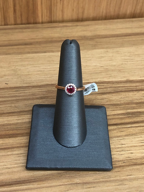 .65 ctw ruby and diamond ring