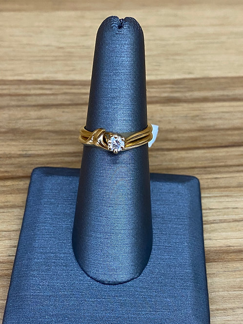 .23 ct round diamond engagement ring