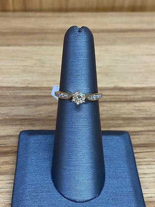 .60 ctw round diamond engagement ring