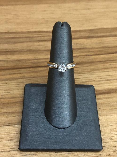 .77 ctw diamond engagement ring