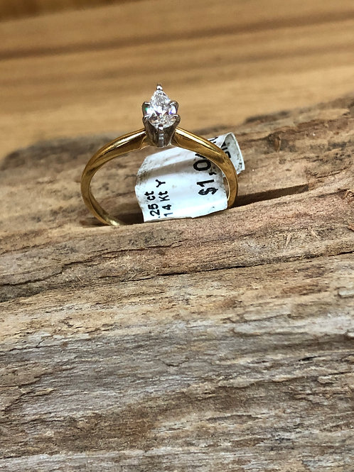 .25 ct pear diamond engagement ring