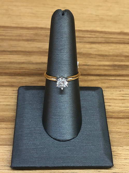 .73 ct round diamond engagement ring
