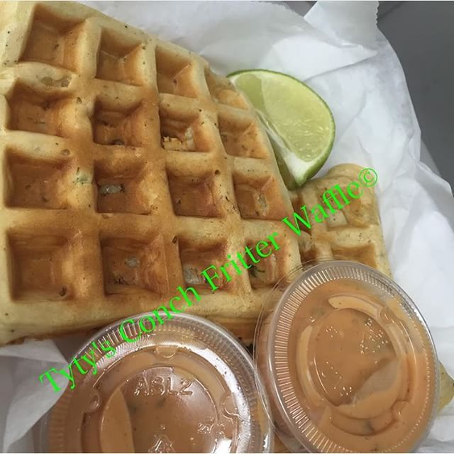 Instagram - 11795 NW 27th ave 8pm until 1am  Tyty's Conch Fritter Waffles! 🚍 #F